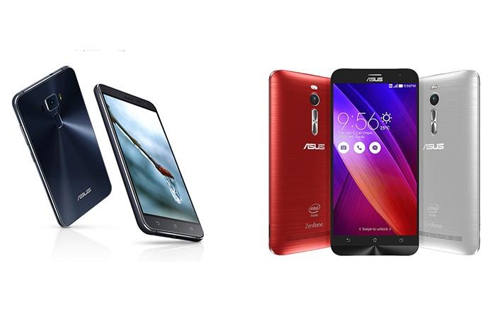 Zenfone 3 (à esquerda) teve grandes mudanças no design e na ficha técnica em relação ao Zenfone  2 (Foto: Arte/Divulgação)