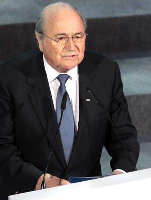 Blatter, Sorteio copa das Confederações (Foto: Celio Messias / Agência Estado)