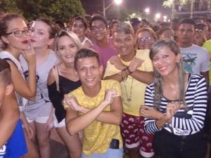 Show da Banda XCalypso em Ananindeua (Foto: G1 PA)