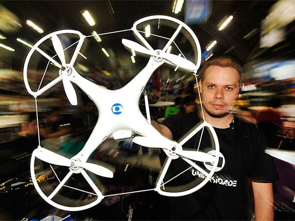 Drone (Foto: Reinaldo Marques/Globo)