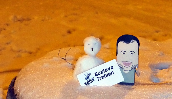 The Voice Gustavo Trebien paper toys (Foto: Arquivo pessoal)