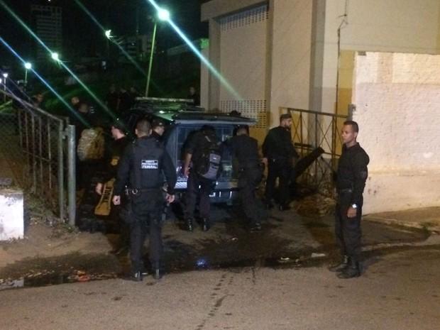 O foco das ações será a penitenciária de Alcaçuz, onde 26 detentos foram mortos  (Foto: Kleber Teixeira/Inter TV Cabugi)