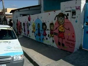 Local onde o ataque ocorreu, em São Mateus (Foto: Reprodução/ TV Gazeta)