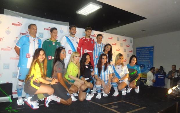 Novos uniformes Paysandu Puma (Foto: GLOBOESPORTE.COM)