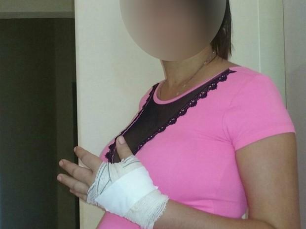 Grávida foi baleada na mão em Guaraí, região central do estado (Foto: Divulgação/Guaraí Notícias)