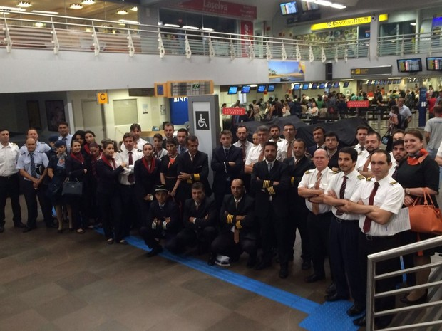 Paralisação dos aeronautas ocorre nesta quarta-feira (3) (Foto: Juliana Gomes/G1)