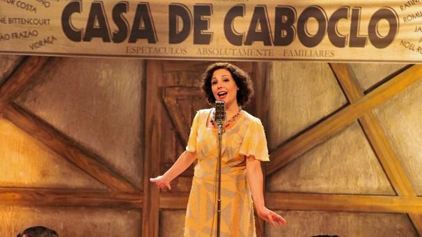 Heloísa Périssé vive uma das fases de Dercy de Verdade, telefilme que vai ao ar na quarta, dia 21 (Foto: CEDOC Globo)