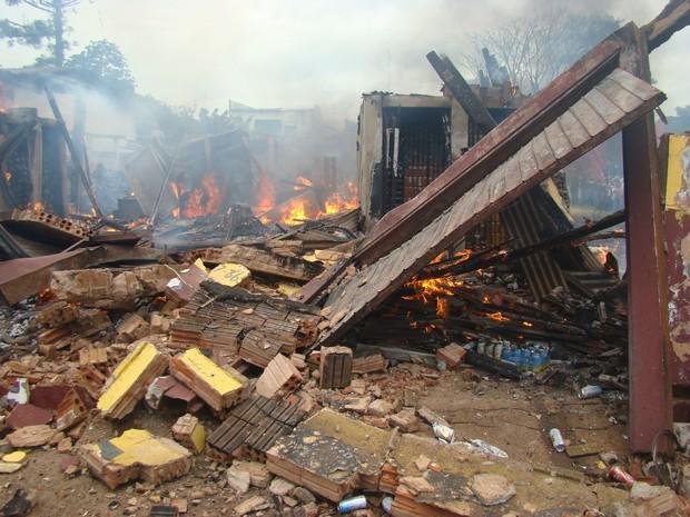 Morte Incêndio Coronel Sapucaia (Foto: Vilson Nascimento/ A Gazetanews)