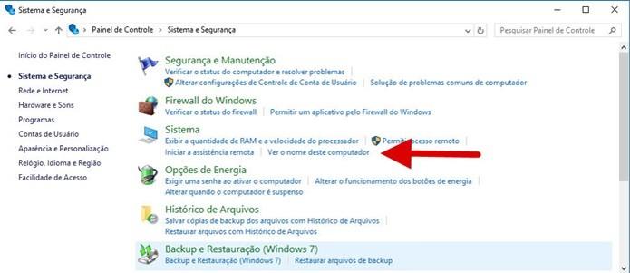 Clique em Ver o nome deste computador (Foto: Reprodução/Helito Bijora)  (Foto: Clique em Ver o nome deste computador (Foto: Reprodução/Helito Bijora) )