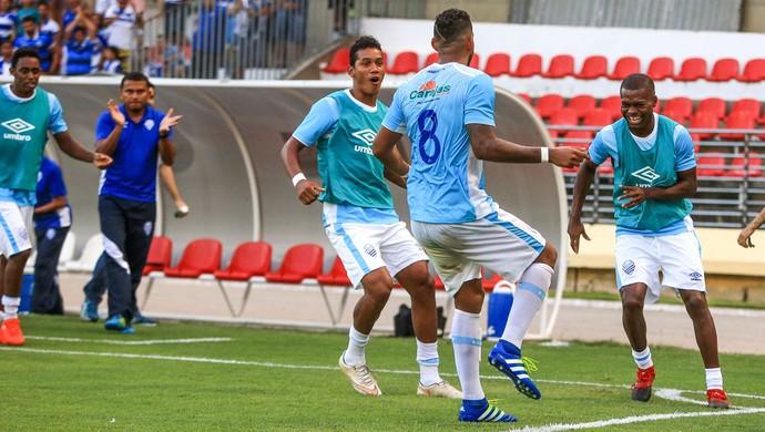 Everton Heleno, volante do CSA gol (Foto: Ailton Cruz / Gazeta de Alagoas)