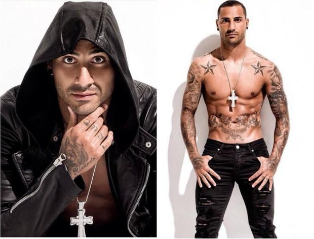 O português Ricardo Quaresma, 32 anos, gosta de tatuagens e passa hidratante no corpo para perfumar e cuidar da pele (Foto: Reprodução do Instagram)
