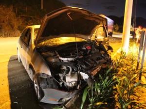 Motorista do Fusion foi preso em flagrante (Foto: Antonio da Luz/Portal Sul in Foco)