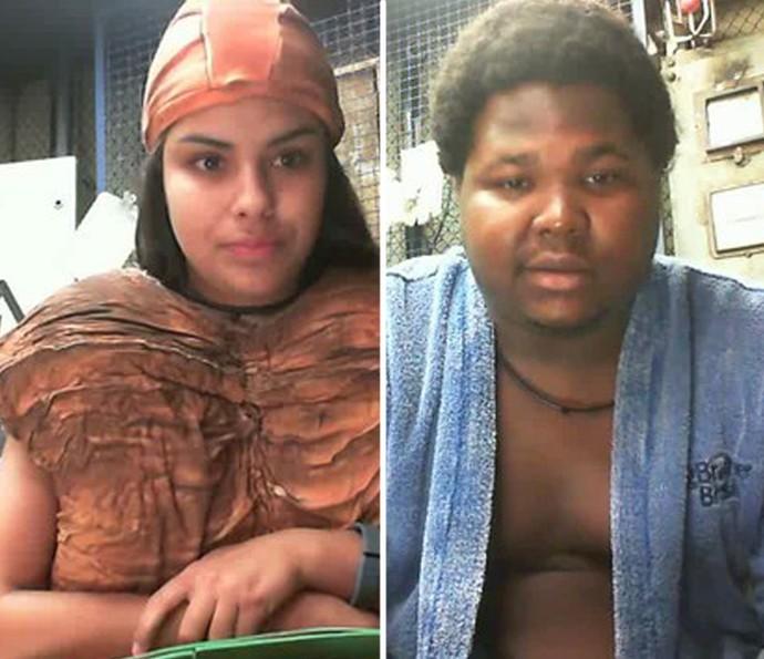 Munik e Ronan no Raio-X do BBB16 (Foto: Tv Globo)