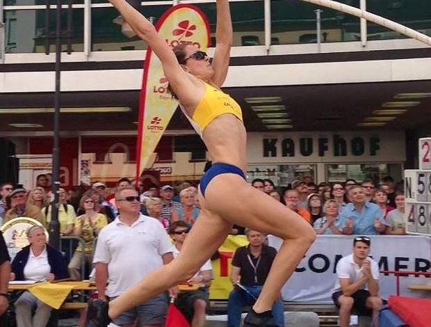 Fabiana Murer conquista o oruo no salto com vara em Hof  (Foto: Rodrigo Iglesias/Divulgação)