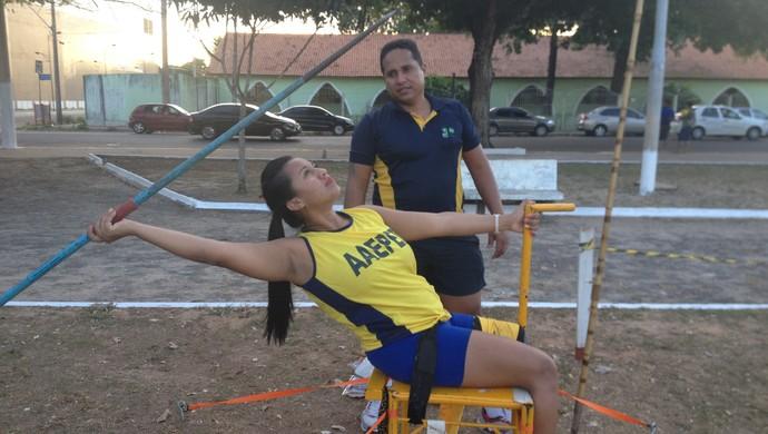 Paratleta do AP que ficar entre as três melhores em Circuito de Atletismo (Foto: Jonhwene Silva-GE/AP)
