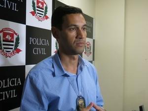 Delegado Lara falou sobre morte de estudante em Santos (Foto: Rodrigo Martins/G1)
