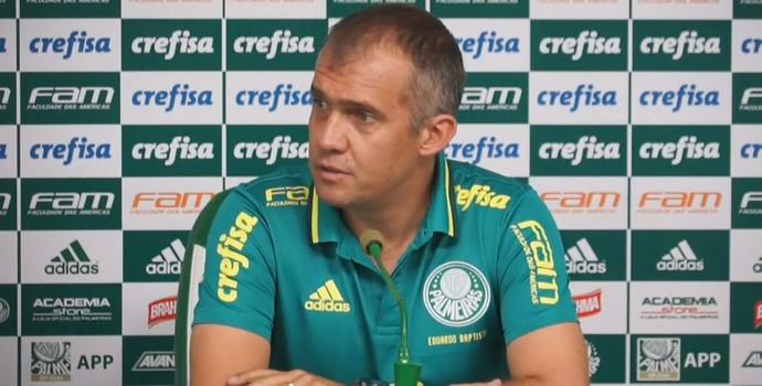 Eduardo Baptista, técnico do Palmeiras (Foto: reprodução)