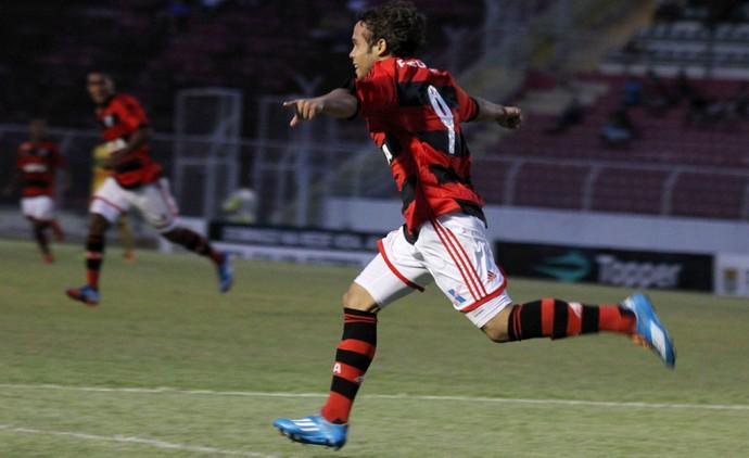Copinha - Flamengo comemora gol sobre o Mirassol (Foto: Eduardo Migliato/Agência Estado)