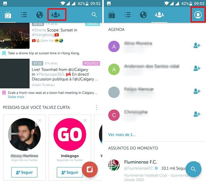 Periscope pode ser usado em 'modo noturno' no Android (Foto: Reprodução/Elson de Souza)