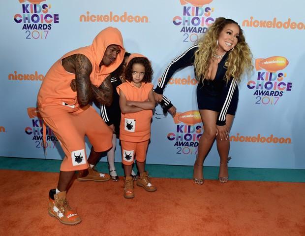Mariah Carey e Nick Cannon com os filhos  Moroccan e Monroe (Foto: Getty Images)