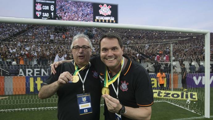 Roberto de Andrade e Eduardo Ferreira, Corinthians x São Paulo (Foto: Daniel Augusto Jr/Ag. Corinthians)