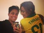 Thammy Miranda assiste ao jogo do Brasil com ex-namorada