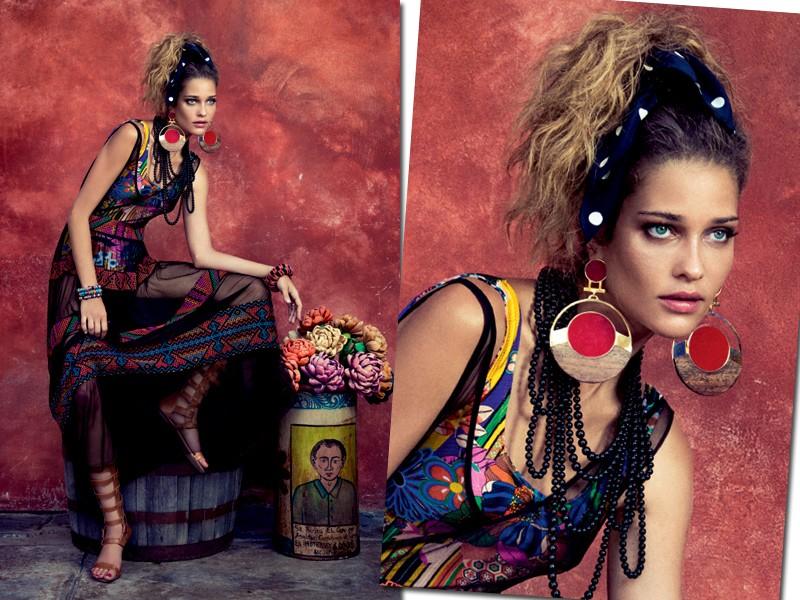 Ana Beatriz Barros encarna a Frida Kahlo fashionista para a Marie Claire de setembro (Foto: Eduardo Rezende - Edição de moda: Larissa Lucchese)