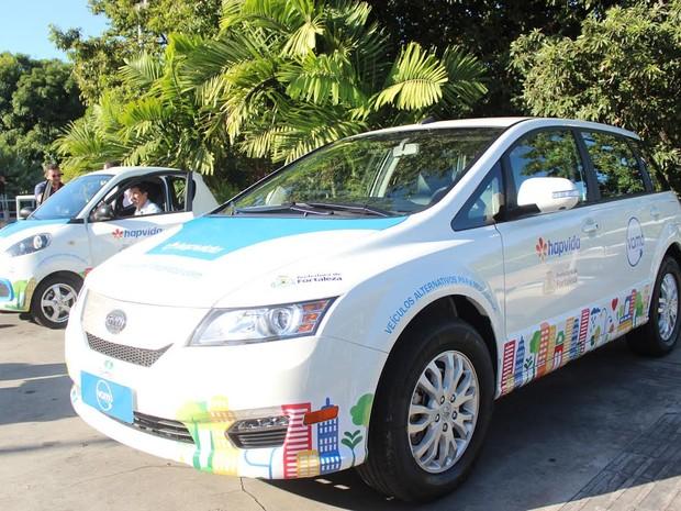 Na primeira etapa, Fortaleza contará com cinco estações de carros compartilhados. (Foto: Prefeitura de Fortaleza/Divulgação)