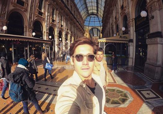 Nicolas Prattes e Alex Lerner (Foto: Reprodução Instagram)