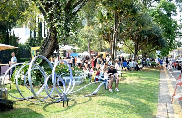 A Praça Homero Vaz em evento  (Foto: Divulgação)