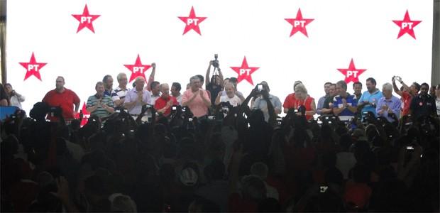 Encontro do PT em Ribeirão Preto reuniu lideranças do partido neste sábado (8) (Foto: Eduardo Guidini/G1)