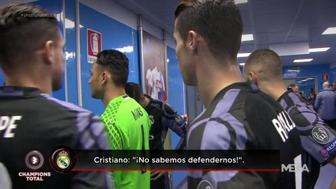 Cristiano Ronaldo vestiário Real Madrid