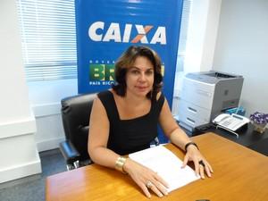 Nelma Tavares, superintendente regional da Caixa (Foto: Lilian Quaino/G1)