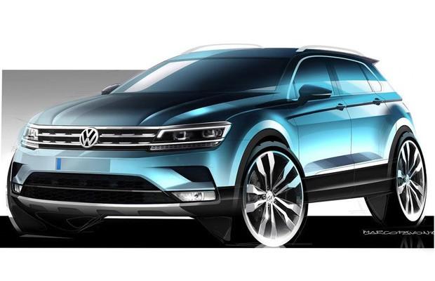 Esboço do novo Volkswagen Tiguan (Foto: Divulgação)