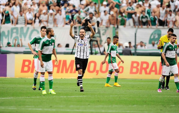 Danilo gol Corinthians x Palmeiras (Foto: Marcos Ribolli)