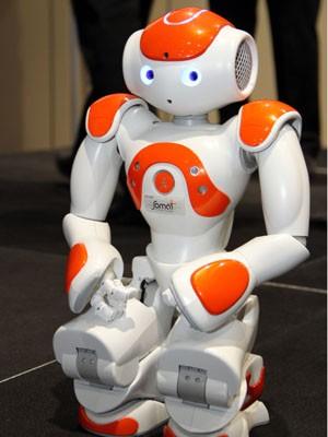 Na liga standard, robôs padronizados e autônomos disputam uma partida de futebol (Foto: Francisco França/G1)