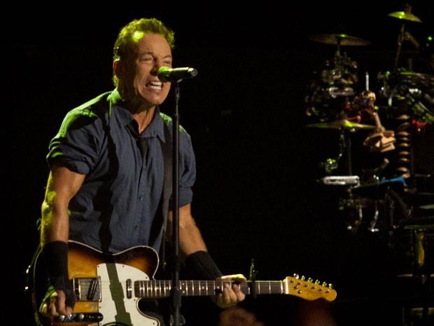 Bruce Springsteen durante show em São Paulo no Espaço das Américas (Foto: Caio Kenji/G1)