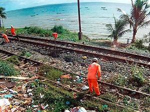 Trens do subúrbio de Salvador, Bahia (Foto: Imagem TV Bahia)