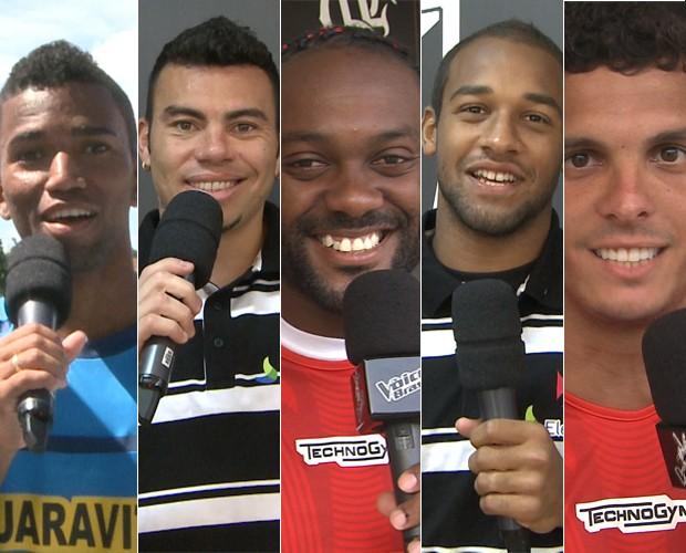 Montagem jogadores the voice 2 (Foto: The Voice Brasil/ TV Globo)