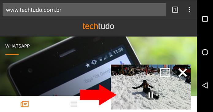 Assista enquanto navega na web ou usa qualquer outro app (Foto: Reprodução/Paulo Alves)
