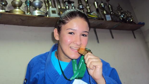 Judoca amazonense de olho em Londres (Foto: Adeilson Albuquerque)