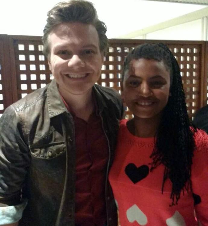 Malu também conheceu o técnico do The Voice Brasil, Michel Teló (Foto: Arquivo pessoal)