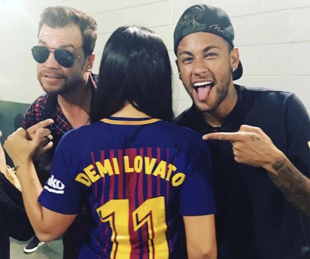 Demi Lovato e Neymar (Foto: Reprodução)