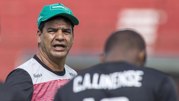 Moacir Júnior, técnico, Linense, treino (Foto: José Luis Silva / Ag. CA Linense)