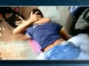 Briga entre alunos foi registrada, dentro de uma escola em Araguaína (Foto: Reprodução/TV Anhanguera)