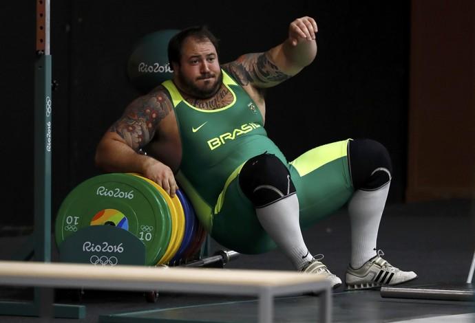 Fernando Reis, treino levantamento de peso Rio 2016 (Foto: Reuters)