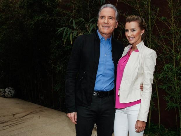 Roberto Justus e a namorada, Ana Paula Siebert , em evento em São Paulo (Foto: Marcos Ribas/ Foto Rio News)