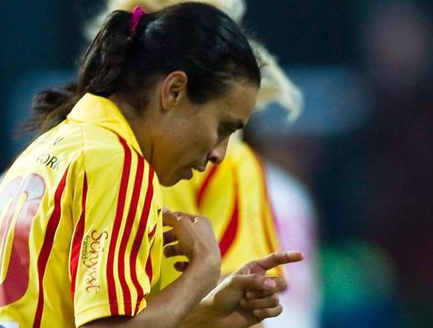 Marta em ação contra o Malmö (Foto: Divulgação)