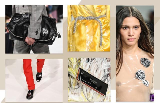 Tendência cromados: Calvin Klein (Foto: Reprodução, Getty, Antonio Barros e ImaxTree)