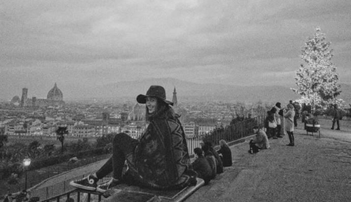 Maria Clara Salgado, do vôlei de praia, optou por viajar para a Itália (Foto: Reprodução)